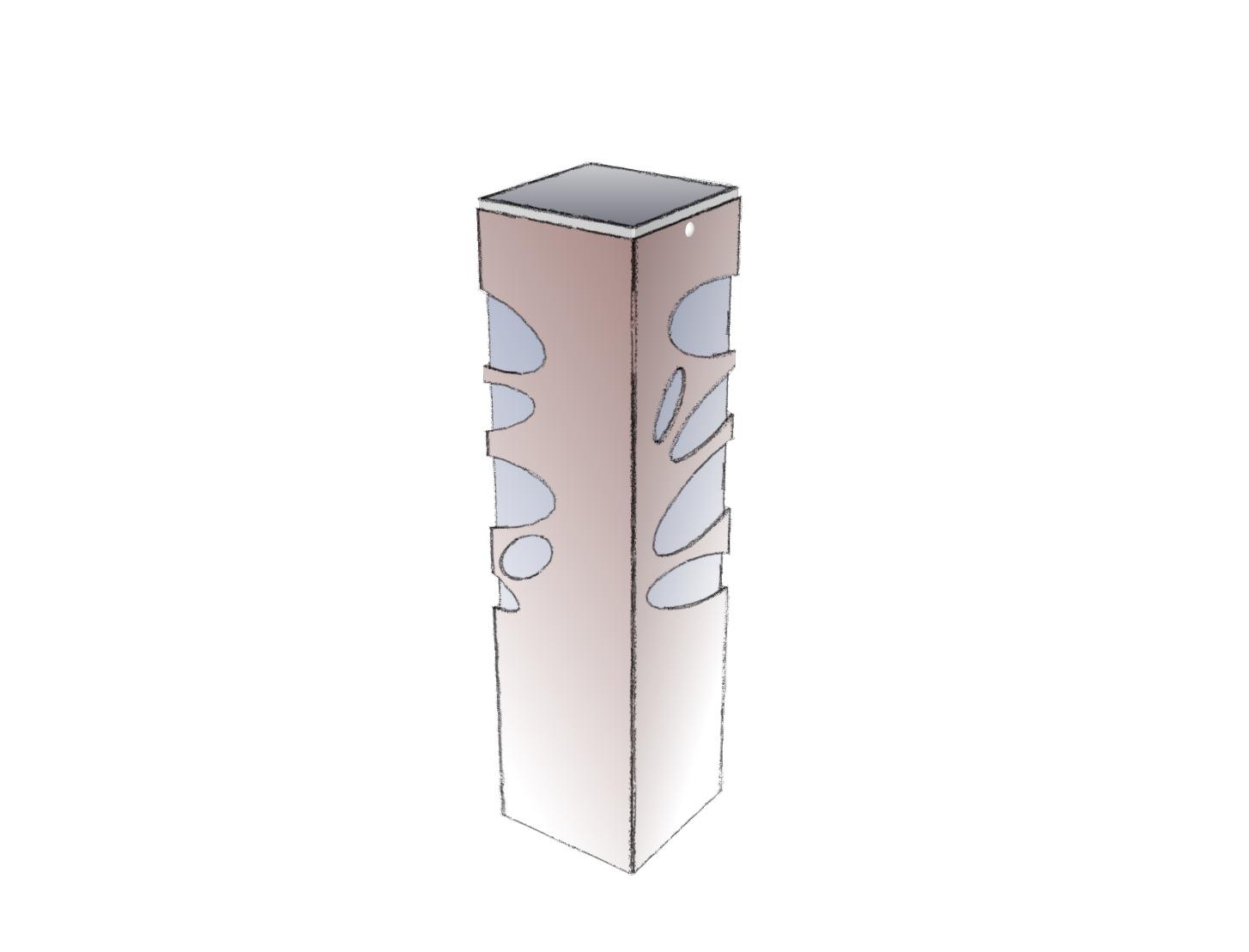 Lampe extérieure solaire en acier rouille Corten - Balise solaire pour éclairage de jardins, balisage d'allée, balisage de chemin.